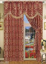 Ready Made Fully Lined Pencil Pleat Amazon Jacquard Curtains (Pelmet & Tie Back)
