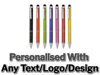 10 50 100 500 1000 Personalised Engraved Metal 2In1 Pens Wholesale Promotion Pen