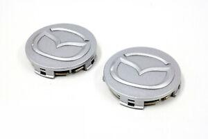 2001-2003 Mazda Miata Silver Wheel Hub Cover Center Caps Set of 2 OEM N06737190