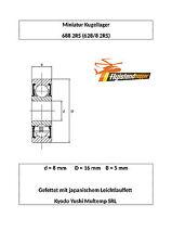 10x 688 rodamientos de bolas 2rs 8x16x5 mm 628/8 2rs bearing 8 x 16 x 5 mm Precision