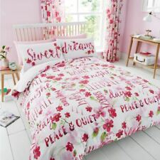 Sweet Dreams Floral Set Housse de couette double fleurs rose literie