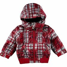 baby boys John Galliano DUCK DOWN insulated JACKET storm hood 6/9M (74cm) BNWT