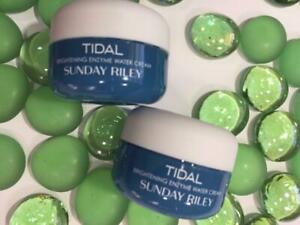 2x SUNDAY RILEY Tidal Brightening Enzyme Water Cream .3oz Each, Deluxe Travel Sz