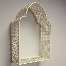 Cream Morrocan Wall Frame Metal Shelf Display Storage Shabby Chic Vintage Style