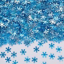 Blue Glitter Snowflake Edible Toppers Natural Cake Decorations Nut Soy Free