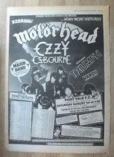 Motorhead Heavy Metal Holocaust 1981 - MUSIC PRESS ADVERT 16 x 11 INCH WALL ART