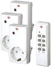 Brennenstuhl RCS1000N Comfort Funk Steckdosen Schalter Set Fernbedienung 1507450