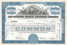 The WESTERN  Pacific Railroad Compagny Certificate 50 shares  1950 (10934)