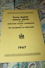 Maryland Racing Commission Booklet 1967 ex Condition Preakness Horse Racing
