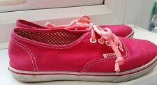Womens Girls VANS Fluorescent Pink fashion trainers shoes plimsolls SIZE UK 3