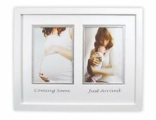11x14-inch Mommy and Baby Frame with White/Silver Double Mat, White
