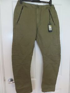 G STAR BURMANS 3D LOOSE LINEN SLUB OD TROUSERS SIZE 33 X 32 NEW WITH TAG