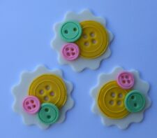 12 edible SEWING BUTTONS cake CUPCAKE button topper DECORATION hootabelle CRAFT