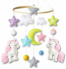 Baby Crib Mobile by Giftsfarm, Unicorn Baby Mobile for Girl Nursery Decor
