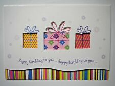"""""""HAPPY BIRTHDAY TO YOU..."""" GIFT BOXES GREETING CARD + DESIGNER ENVELOPE"""