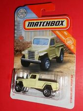 MATCHBOX '51 WILLYS JEEP PICKUP 4X4 15/20 MBX CONSTRUCTION SHIPS FREE