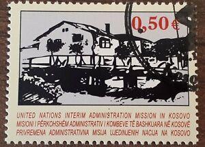 RARE 2004 Kosovo Single Issue Stamp - e0.50 House - PC/NH
