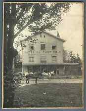 France, Besançon (Doubs), Hôtel du Chat Noir  Vintage silver print.  Tirage ar