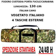 Borsa Fodero Custodia porta Fucile o carabina VEGETATO ITALIA CAMO lunga 130 cm