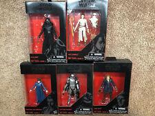Star Wars Black Series Force Awakens Lot (5) New 3.75 Inch