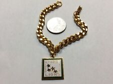 Lions Club International Pins - Illinois 1969 Gold Charm With Bracelet Tokyo