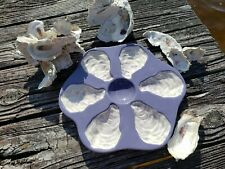OYSTER PLATES purple lavender 6 Wells,  lemon well never used
