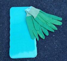 Outdoor Green Foam Gardening Kneeling Pad Knee Mat with Garden Gloves