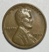 1933 Lincoln - Wheat Ears Reverse 1 Cent Circulated Coin  (3070)