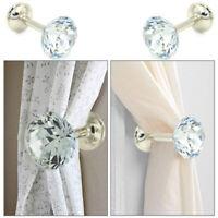 2 x Metall Kristall Glas Vorhang Haken Vorhang Holdback Wand Krawatte Halter DIY