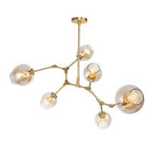 6-Lights Modern LED Glass Bubble Chandelier Hanging Pendant Lamp Lights