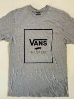 Vans New Print Box Short Sleeve Athletic Heather T-Shirt Men's Size Medium
