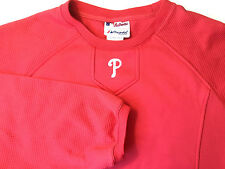 Philadelphia Phillies Majestic Pullover Shirt MLB Baseball Therma Base Fleece M