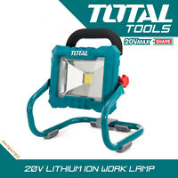 Total Tools Cordless Lithium-ion Portable 20v Work Lamp Ultra Bright Body Only