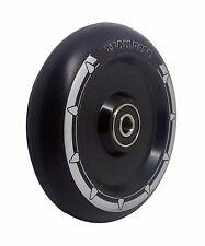New 100mm Gloss Black Alloy Core Black PU Stunt Scooter Wheel, ABEC 11 Bearings