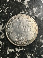 1913 Canada 25 Cents Lot#L3979 Silver! Cleaned