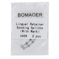 10 X Dental Orthodontic Lingual Retainer Bondable Mesh Base Upper 45# 2pcs/bag