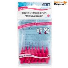 New Genuine TePe Interdental Brushes Pink G2 Fine 0.4mm 8 Pack