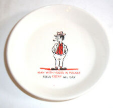 Comical 1960s Dish - 'Man with holes in pockets feels cocky all day' -
