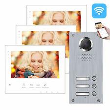 2-Draht BUS IP WLAN Video Türsprechanlage 3 Familienhaus Dreifamilienhaus