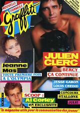 Magazine GRAFFITI n°10, Julien CLERC, Jeanne MAS, Al CORLEY, STALLONE, Jes GARON