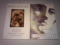 (2Bk Lot) Aeschylus and Sophocles, (1994 Quality Pbk Book Club Ed., 7 plays)