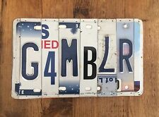 Mancave Garage Game Room Decor Licence Plate Art Gambler
