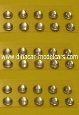 Lot de PASTILLES DE PHARE RONDES diamètre 3 mm - BLANCHE - 1/43è