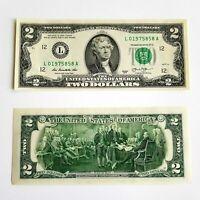 3 x 2 US Dollar - Fortlaufende Nummern - Geldscheine USA 2013