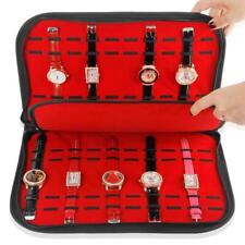 20 Slots/Grids Watch Case with Zipper Velvet Wristwatch Display Storage Box