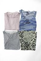 J Brand Monrow Women's Tank Top T-Shirts Gray Blue Pink Size Small Lot 4