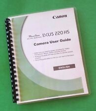 "Canon Elph 300 HS, IXUS 220 HS Camera 212 Page Laser 8.5X11"" Owners Manual"