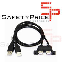 Cable Doble usb 2.0 a hembra montaje panel doble usb 2x macho hembra extension