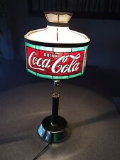 1979 Coca Cola Tiffany Style Hinge Convertible Lamp BRAND NEW OPENED JUST 4 PICS