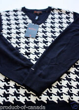 Ben Sherman Houndstooth Sweater Men's Medium New tag dogtooth wool jumper geo